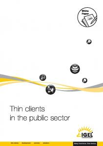 Thin clients in the public sector