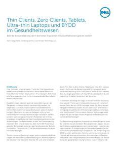 Thin Clients, Zero Clients, Tablets, Ultra-thin Laptops und BYOD im Gesundheitswesen