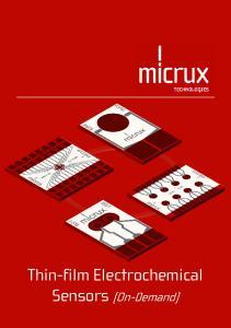 Thin-film Electrochemical Sensors (On-Demand)