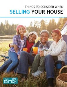 THINGS TO CONSIDER WHEN SELLING YOUR HOUSE EDITION