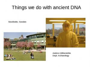 Things we do with ancient DNA