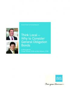 Think Local Why to Consider General Obligation Bonds