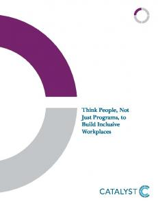 Think People, Not Just Programs, to Build Inclusive Workplaces