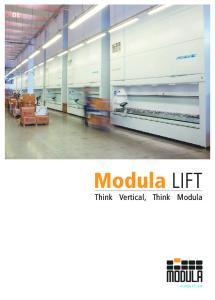 Think Vertical, Think Modula. modula.eu