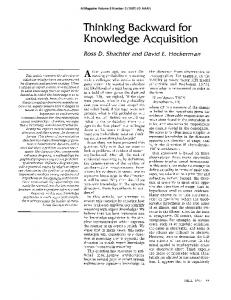 Thinking Backward for Knowledge Acquisition