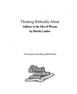 Thinking Biblically About