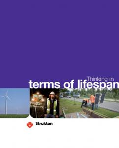 Thinking in. terms of lifespan