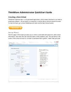 ThinkWave Administrator QuickStart Guide