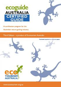 Third Edition - a product of Ecotourism Australia