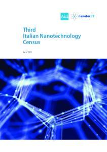 Third Italian Nanotechnology Census