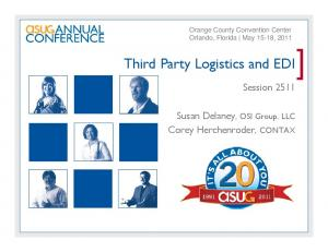 Third Party Logistics and EDI