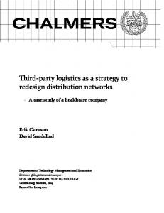 Third-party logistics as a strategy to redesign distribution networks