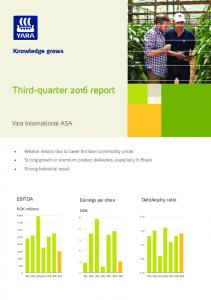 Third-quarter 2016 report