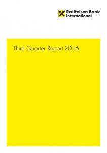 Third Quarter Report 2016