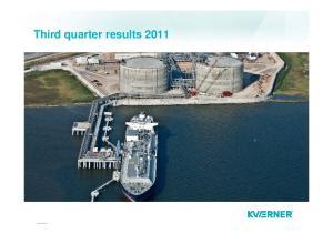Third quarter results 2011