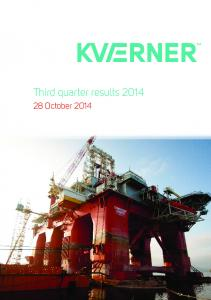 Third quarter results October 2014