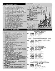 THIRD SUNDAY OF EASTER MASS SCHEDULE