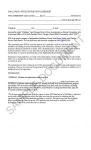 THIS AGREEMENT made as of this day of, 2010 between. with its principal office at. Telephone: ; Fax: ;