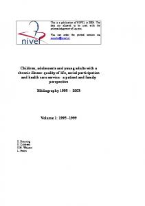 This is a publication of NIVEL in The data are allowed to be used with the acknowledgement of sources