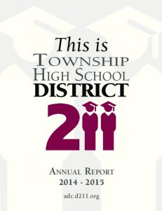 This is DISTRICT. Township. High School adc.d211.org