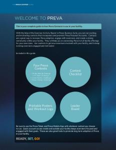 This is your complete guide to four Preva Contests to use in your facility
