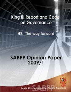 This opinion paper should be used and duplicated with acknowledgement to the SABPP