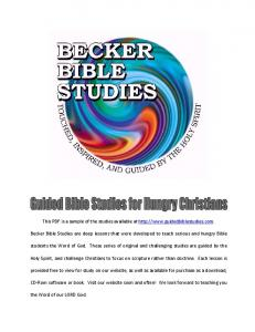 This PDF is a sample of the studies available at