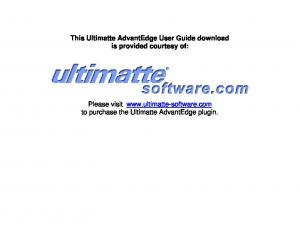 This Ultimatte AdvantEdge User Guide download is provided courtesy of: