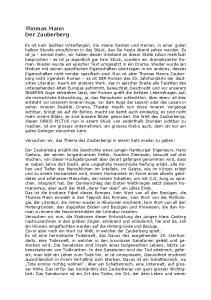 Thomas Mann Der Zauberberg