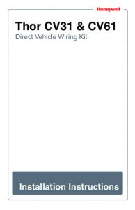 Thor CV31 & CV61. Direct Vehicle Wiring Kit. Installation Instructions