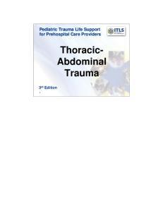 Thoracic- Abdominal Trauma