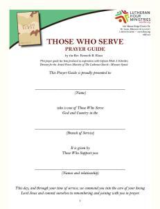 THOSE WHO SERVE PRAYER GUIDE