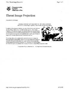 Threat Image Projection