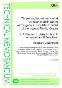Three- and four-dimensional variational assimilation with a general circulation model of the tropical Pacific Ocean
