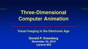 Three-Dimensional Computer Animation