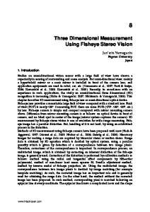 Three Dimensional Measurement Using Fisheye Stereo Vision