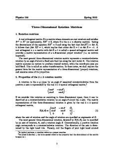 Three-Dimensional Rotation Matrices