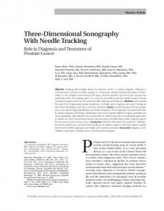 Three-Dimensional Sonography With Needle Tracking