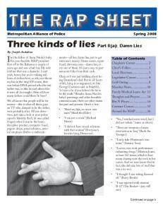 Three kinds of lies Part II(a): Damn Lies