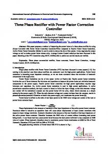 Three Phase Rectifier with Power Factor Correction Controller