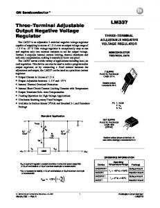 THREE TERMINAL ADJUSTABLE NEGATIVE VOLTAGE REGULATOR