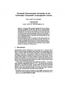 Threshold Homomorphic Encryption in the Universally Composable Cryptographic Library