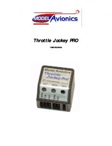 Throttle Jockey PRO. Instrucciones