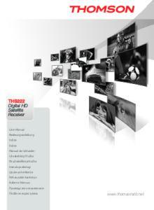 THS222 Digital HD Satellite Receiver