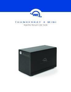 THUNDERBAY 4 MINI. Assembly Manual & User Guide