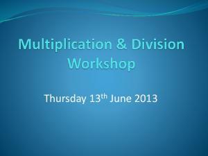 Thursday 13 th June 2013