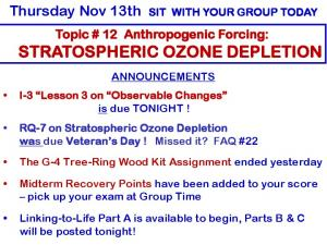 Thursday Nov 13th SIT WITH YOUR GROUP TODAY