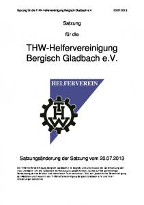 THW-Helfervereinigung Bergisch Gladbach e.v