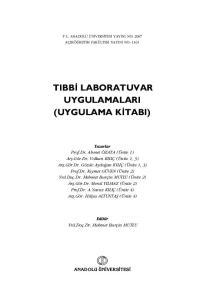 TIBB LABORATUVAR UYGULAMALARI (UYGULAMA K TABI)