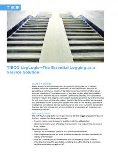 TIBCO LogLogic The Essential Logging as a Service Solution